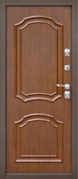 Дверь Дверной континент Парус Коричневый  графит  Тёмный орех
