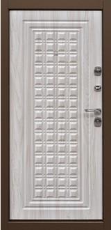 Дверь Дверной континент Контур Коричневый графит  Беленый дуб