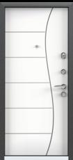 Дверь Torex Super Omega-10 Черный шелк RP4 Белый RS14