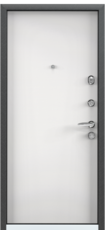 Дверь Torex Super Omega-10 Черный шелк RP4 Белый
