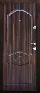 Дверь Дверной континент Экстра Античная медь  Орех тёмный