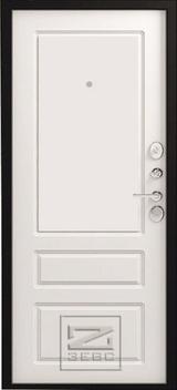 Дверь Зевс Z-6 Шелк бордо  Софт белый