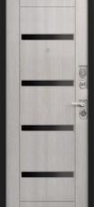 Дверь Зевс Z-6 Серебро  Лиственница мокко