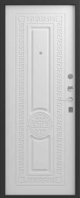 Дверь Зевс Z-5 Черный шелк Греция Софт белый