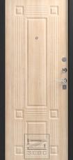 Дверь Зевс Z-5 Черный шелк Италия Лиственница светлая