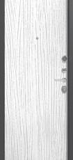 Дверь Легион L-7 Серый шелк  Белое дерево