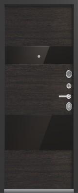 Дверь Легион L-8 Черный шелк  Орех премиум
