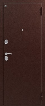 Дверь Сибирь S-1 Античная медь  Итальянский орех