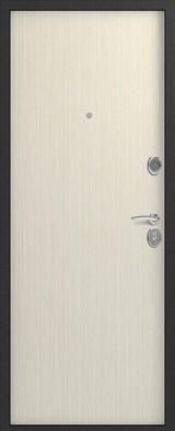 Дверь Сибирь S-1 Серебро  Капучино 3D