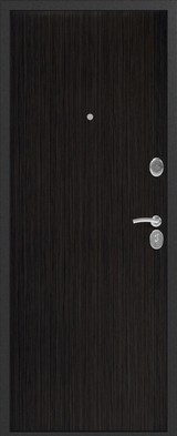 Дверь Сибирь S-1 Серебро  Венге 3D
