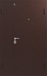 Дверь Сибирь S-3 двухстворчатая Античная медь  Античная медь