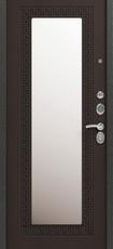 Дверь Сибирь S-4 (с зеркалом) Черный муар  Венге