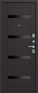 Дверь Сибирь S-5 Черный шелк  Венге