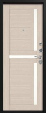 Дверь Сибирь S-7 Черный шелк  Лиственница светлая