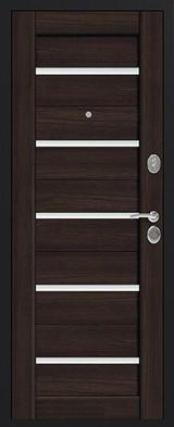 Дверь Сибирь S-7 Черный шелк  Венге шоколад
