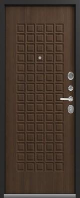 Дверь Сибирь S-8 Черный крокодил  Миндаль
