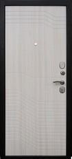 Дверь Форт Волга 01Ф Черный муар Белый ясень