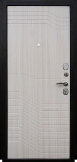 Дверь Форт Волга 01Ф, 02Ф Черный муар  Белый ясень