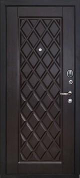 Дверь Форт Волга 01Ф, 02Ф Черный муар  Венге