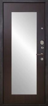 Дверь Форт Волга 03Z (с зеркалом) Черный муар  Венге