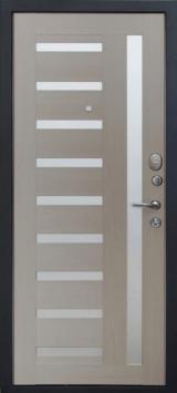 Дверь Форт Волга 06, 07 Царга Черный муар  Капучино