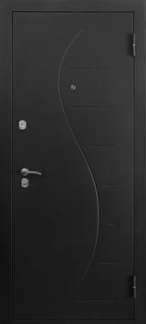 Дверь Форт 31, 32 Черный муар Волна Беленый дуб Шоколад
