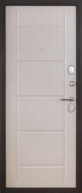 Дверь Форт 81, 82, 83 Черный муар  Белый ясень