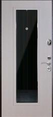 Дверь FalKO Конструктор М-3 с зеркалом Капучино  Белый ясень Элеганс №8