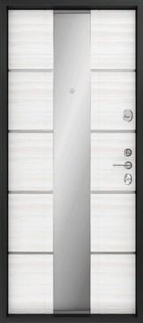 Дверь FalKO Конструктор М-77 с зеркалом Венге Кантри Элеганс №15 Белый ясень Элеганс №16