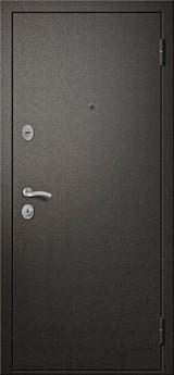 Дверь Алмаз 11 Черный шелк  Лиственница Мокко (эко-шпон) S-11 царга
