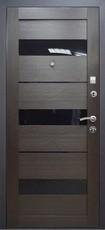 Дверь Алмаз 11 Шелк бордо  Кипарис темный (эко-шпон) S-3 царга