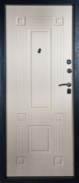Дверь Алмаз Рубин Черный шелк  Беленый дуб №8