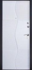 Дверь Алмаз Сапфир 2 Черный шелк  Белый шелк №74