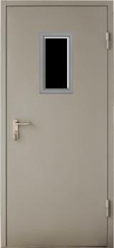 Дверь Противопожарная ГОСТ EI60 со стеклом RAL 7035