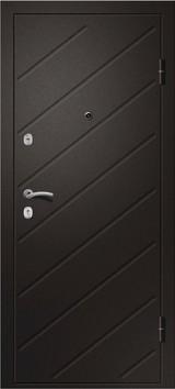Дверь Ретвизан Ника 121 Черный сатин  Светлый дуб (эко) 171