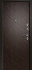 Дверь Ретвизан Ника 121 Черный сатин  Венге (эко) 171