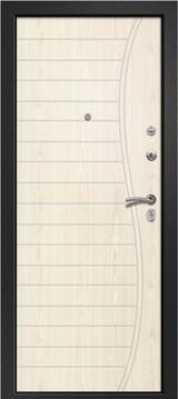 Дверь Ретвизан Аризона 210 Черный сатин  Светлый дуб (эко) 167
