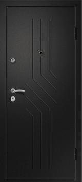 Дверь Ретвизан Аризона 215 Черный сатин  Лиственница светлая 56