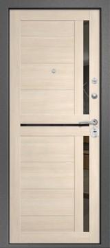 Дверь Ретвизан Аризона 217 Черный сатин  Светлый дуб Эко S-4