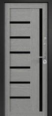 Дверь Ретвизан Аризона 220 Черный сатин   Дуб Филадельфия грей S-6