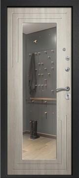 Дверь Ретвизан Аризона 222 с зеркалом Черный сатин  Филадельфия крем