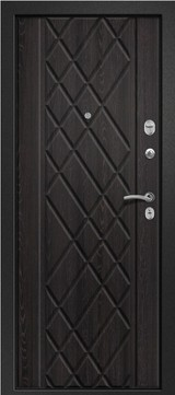 Дверь Ретвизан Медея 311 Черный сатин  Аруба венге №161