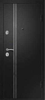 Дверь Ретвизан Медея 321 Черный сатин М1 Белый Эрмитаж-2