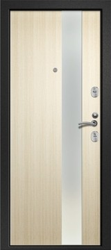Дверь Ретвизан Медея 321 Черный сатин М1 Светлый дуб (эко) 109Z зеркало сатин