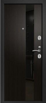Дверь Ретвизан Медея 321 Черный сатин М1 Венге (эко) 109Z стекло черное