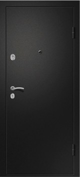 Дверь Ретвизан Медея 321 Черный сатин  Светлый дуб (эко) 109Z зеркало сатин