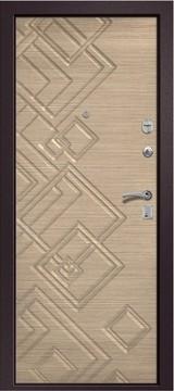 Дверь Ретвизан Медея 330 Коричневый сатин  Светлый горизонт