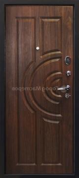 Дверь Город мастеров Ангара Античная медь Волна Орех рифленый №38