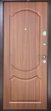 Дверь Бульдорс 14 Античная медь  Орех лесной В-1