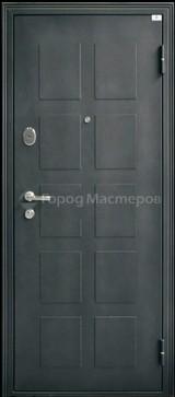 Дверь Город мастеров Обь модерн Черный металлик  Темный кипарис